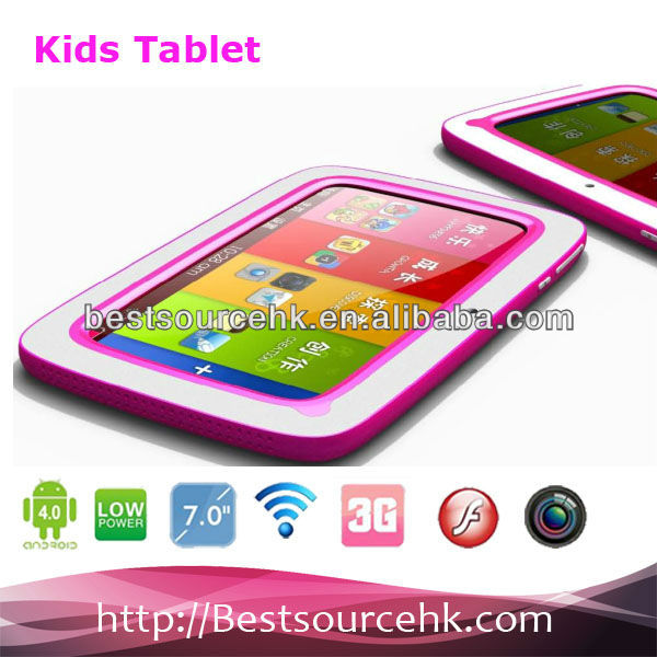 2013 new arrival Kids tablet pc with android 4.1 512M/4G