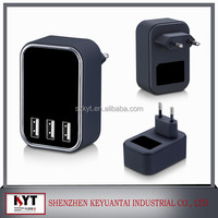 Phone accessory 3 USB wall charger home wall charger for iPhone iPad Samsung Galaxy Pad