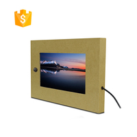 Built In 7 inch USB Input Advertising Screen For Cardboard Retail Display
