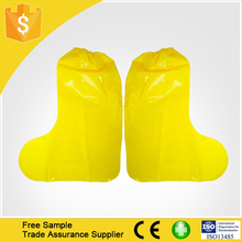 Top Quality Yellow Waterproof Rain Boots Cover/PE shoe cover