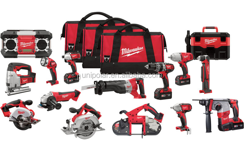 All New Milwaukee Power Tools 2695-15 M18 18-Volt, 220v Cordless Power Lithium-Ion 15-Tool Combo Kit, Electric Drill