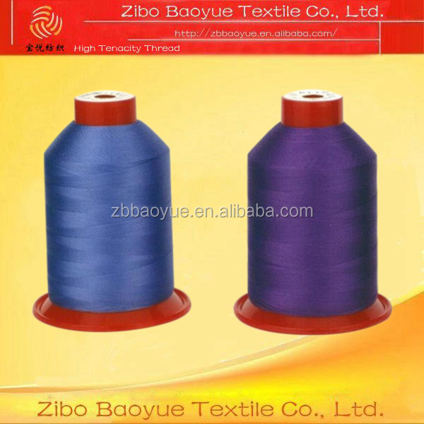 high tenacity 100% polyester continuous filament sewing thread 210D/3