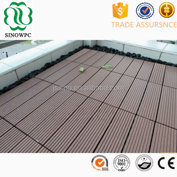 cheap interlocking wpc wood composite decking tiles with CE SGS
