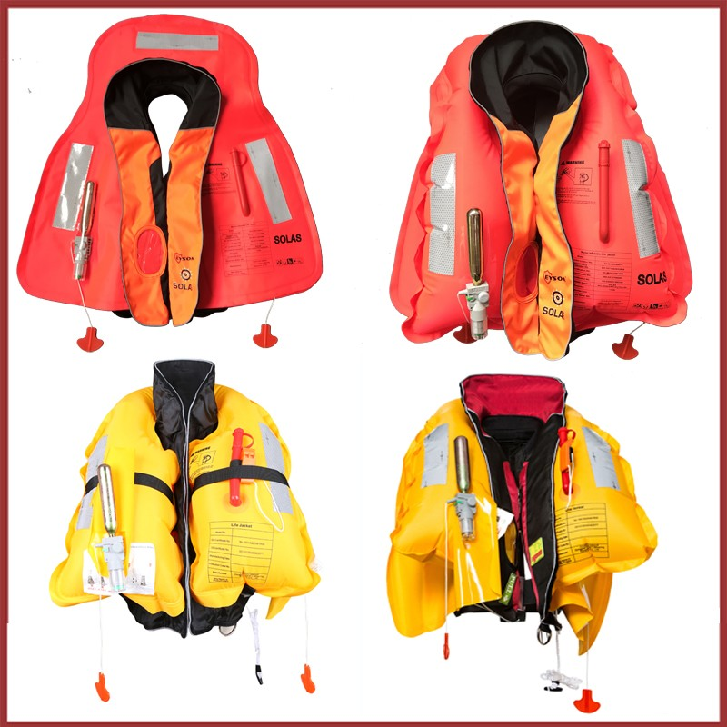 SOLAS approved marine inflatable life jacket