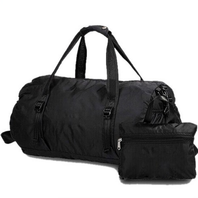 Wholesale round mens waterproof foldable travel duffle bag
