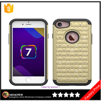Factory Price TPU+PC material diamond case for Iphone 7