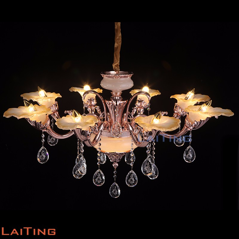 art deco pink glass chandelier with lampshade incandescent light luminaire