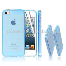 "light blue tpu cell phone case for iphone 5"" original"