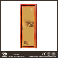 China Cheap Bedroom Aluminium Door Glass Single Door