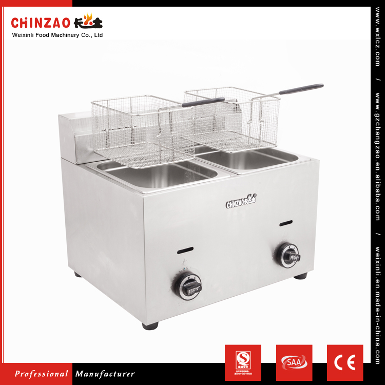 Chinzao Best Selling Products Easy Operation Industrial Gas Fryer For Cooking Chicken