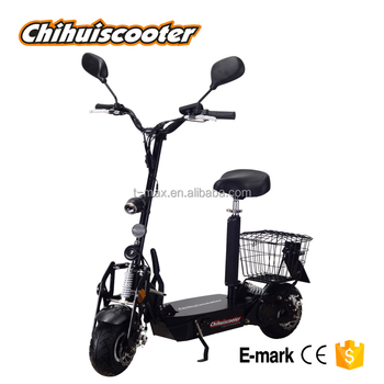 800W EEC electric scooter with rear basket