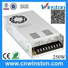 Enclosed constant voltage 250W Single output switching power supply 10a 24v 250w led power
