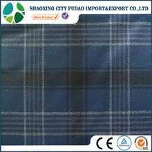 Check style polyester rayon spandex brushed twill fabric for shirts
