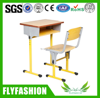 Cheap Modern Wood Single School Desk And Chair For Sale SF-01S