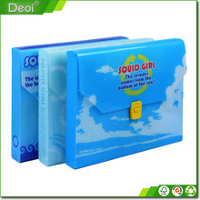 PP plastic file folder case a4 office file storage box with 4C offset printing