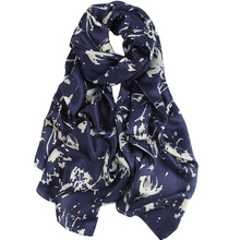 high quality Fashion Pattern Wrap Neck silk Scarves for Women