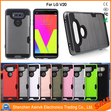 Shockproof Card Slot Dual Layer Armor Hybrid Protective Case For LG V20