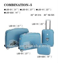 cheap and beautiful 4 pcs PP luggage set, suitcase, travel luggage cases