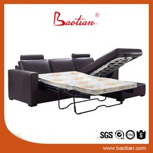 Baotian furniture leather sofa cum bed Australia folding bed for living room furniture