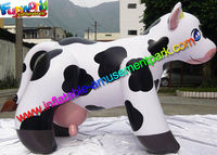 Cute Dairy Cattle Model Advertising Inflatables Cow For Decoration