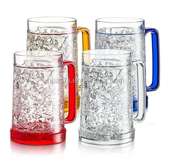 16(450) oz Cheap beer mug Frosted cup Ice cup maker Double Wall Gel Frosty Freezer beer Mugs