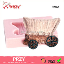 F2557 old west covered wagon silicone mold soap in the shape of a western covered wagon