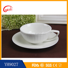 New design white ceramic tea cups and saucers cheap