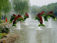 fake grass animal entertainment/park Life-like artificial grass topiary