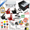 New complete Professional Tattoo Supply Kit, 4 Aluminum Alloy Tattoo Machine kit set