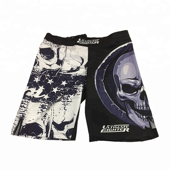 4way Stretch Fight Boxing Gear  Custom Sublimated rash guard MMA Shorts