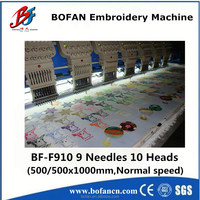 flat computer operateion 8 head embroidery machine for sale