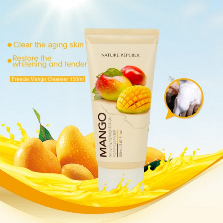 Best face fresh cleanser cream /Deep Cleansing Gel with rich Mango fruit formula for pore skin