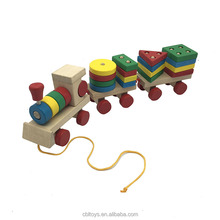 Wooden shapes train dazzling toys kids favorite shape toys handcraft learning game CBL3154