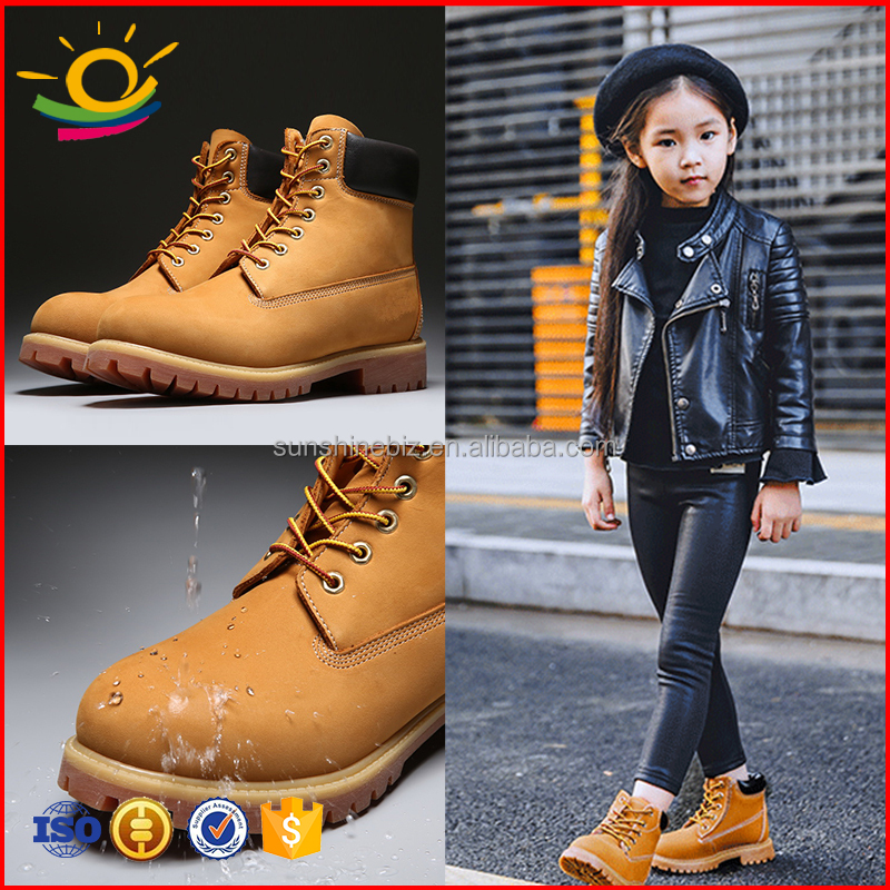 Waterproof Fashion Ankle Boots Kids Boots Winter Boots Genuine Cow Leather Flexble