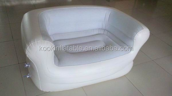 Luxury pvc inflatable furniture hotel air chair sofa table light
