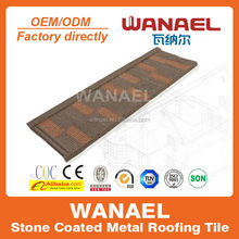 Design colorful Wanael stone-coated metal roof tile/toyota hiace high roof