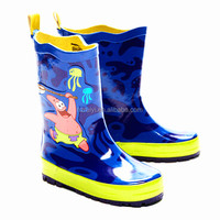 hot sale cartoon print kids rain boots,durable unisex rubber boots,OEM cheap high quality overshoes
