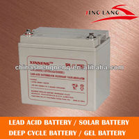 good price/deep cycle/sealed lead acid battery for solar system 12V 33AH
