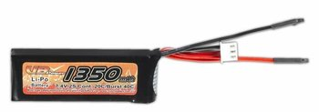 7.4 volt 1350mAh 20C Li-Poly Lipo Battery Pack