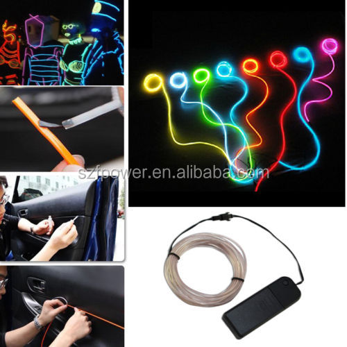 LED Light Strip EL Wire Cable for Car Home Decoration Costume Thanksgiving Christmas Day New Year