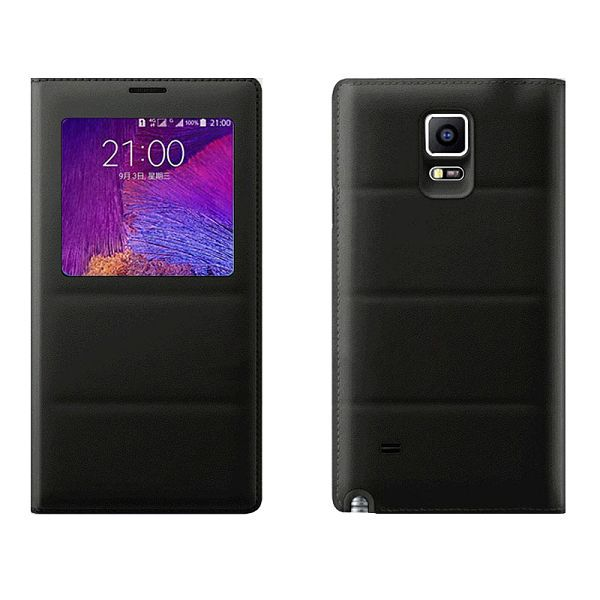 Top Grade PU Leather Battery Back Housing Cover for Samsung Galaxy Note 4