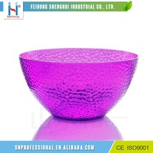 Colorful Acrylic Plastic Salad Bowl With Stand