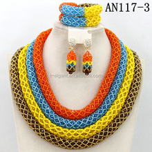Multi color Latest Fashion Design africa beads jewelry sets for party dress