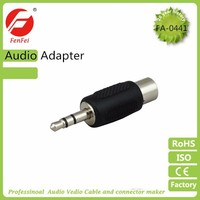 Universal 3.5mm 1/8 stereo plug to RCA jack convertor audio adaptor