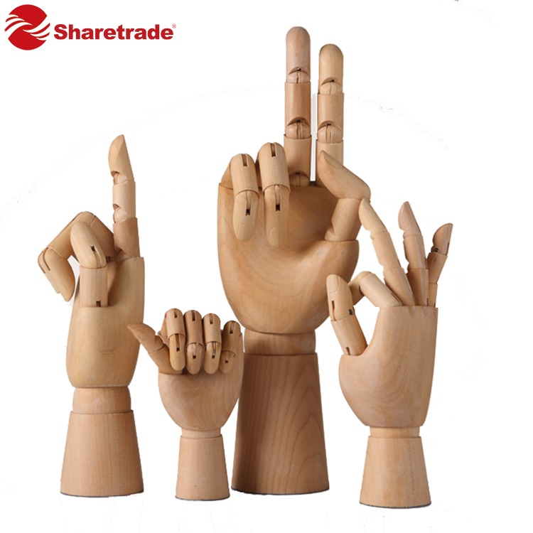 Versatile wooden display hand