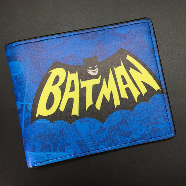 DC Comics The Batman Wallet  Animated Cartoon Purse for Young People Students Gift Card Holder Wallets With Tag Dollar Price