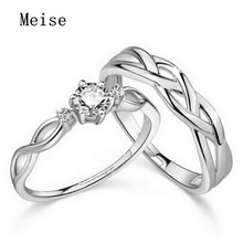 Yiwu Meise Love Intertwined Diamond Lovers Couple Rings Wedding Ring