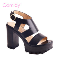 High heels design open back comfort woman sandal shoe