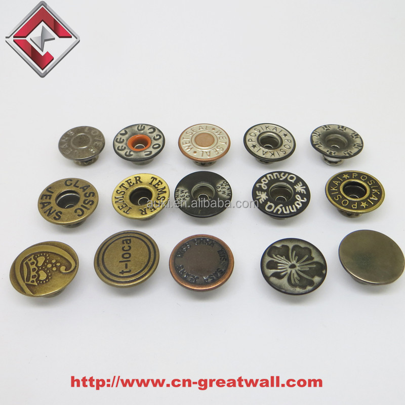 Different Type of Metal Buton Shank button Jean Jacket Metal Button