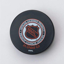 Promotional team sports logo printing roller hockey puck